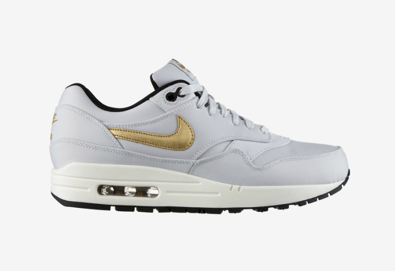 Nike Air Max 1 Premium Qs Greyish Black Metallic Gold