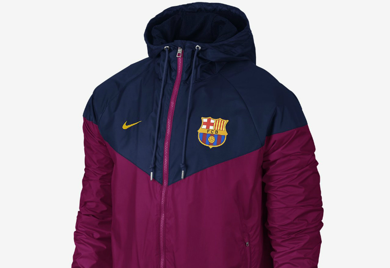 Nike Fc Barcelona Authentic Windrunner Loyal Blue Dynamic Berry University Gold