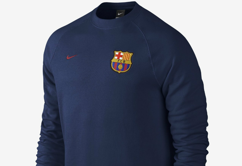 Nike Fc Barcelona Aw77 Authentic Crew Loyal Blue Storm Red
