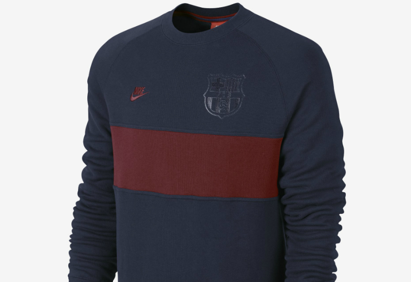 Nike Fc Barcelona Aw77 Covert Crew Obsidian Team Red Team Red
