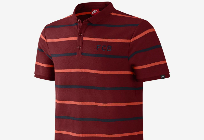 Nike Fc Barcelona League Covert Polo Shirt Team Red Obsidian