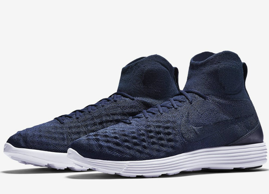Nike Lunar Magista Ii Flyknit College Navy Black White College Navy