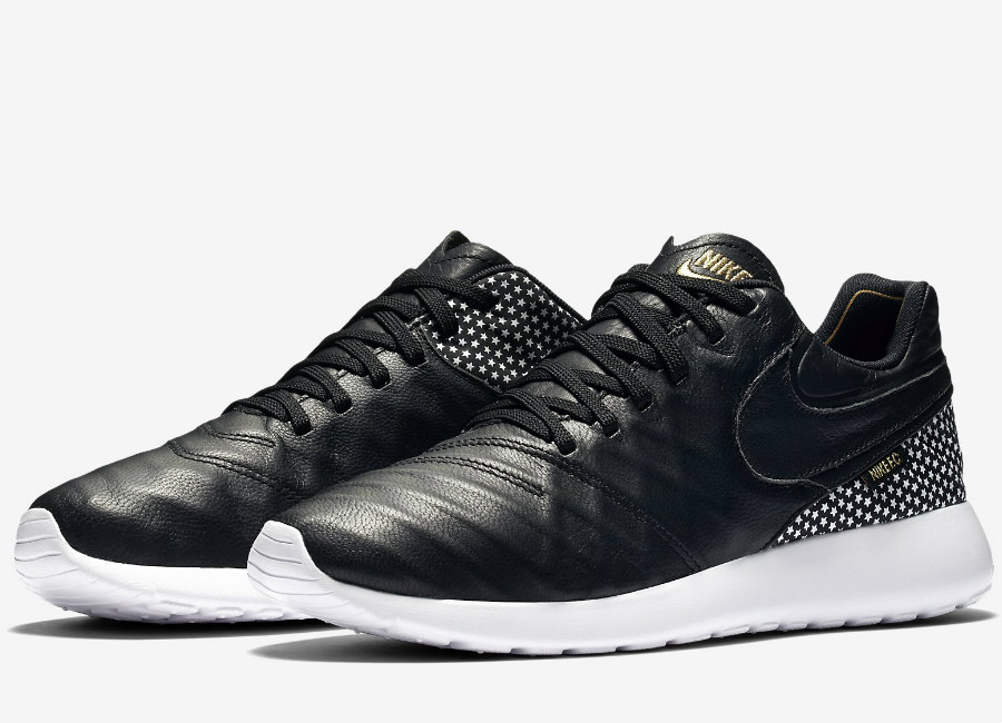 Nike Roshe Tiempo Vi Fc Black White Metallic Gold Black