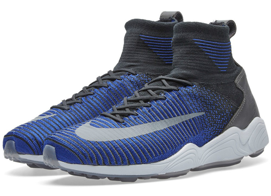 Nike Zoom Mercurial Xi Flyknit Black Dark Grey Blue
