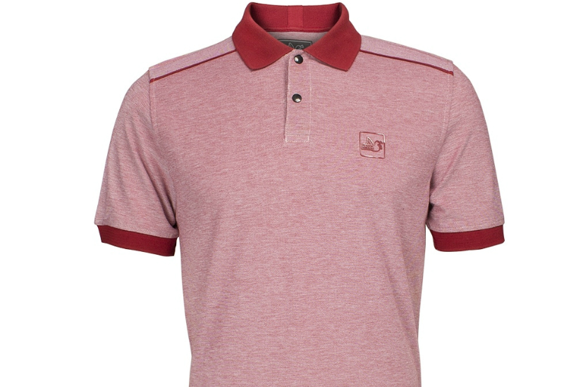Peaceful Hooligan Tape Oxford Polo Shirt Rose Red