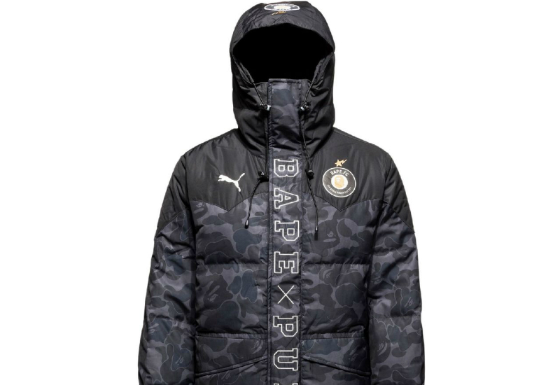 Puma Bape Long Coat Black Camo Black Camo