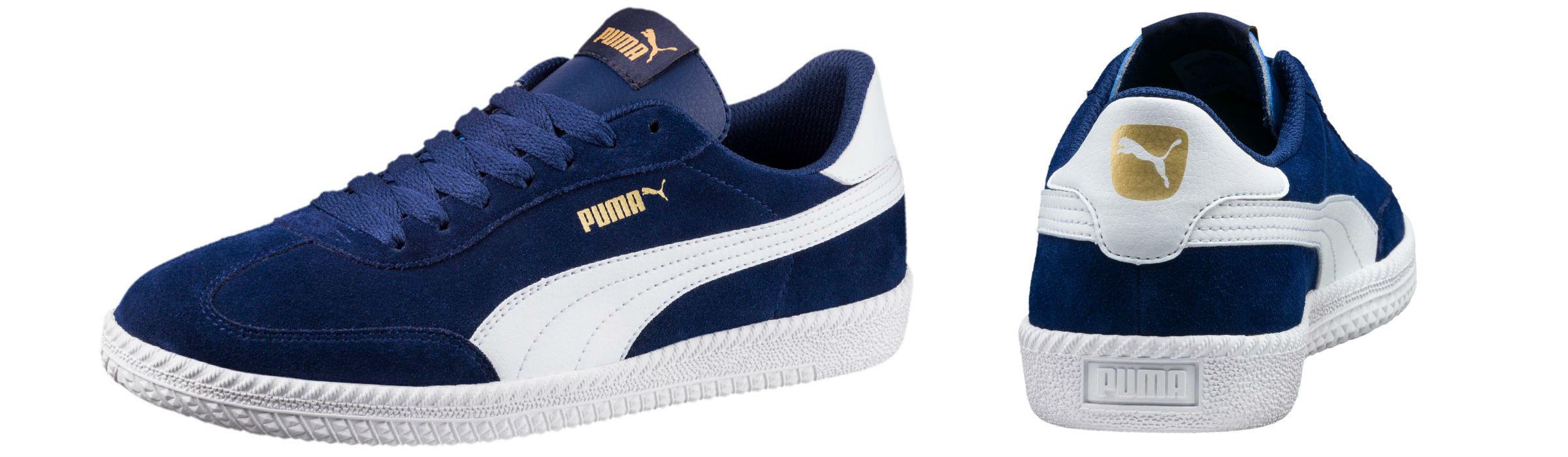 Puma Astro Cup Suede Trainers Blue Depths Puma White Full