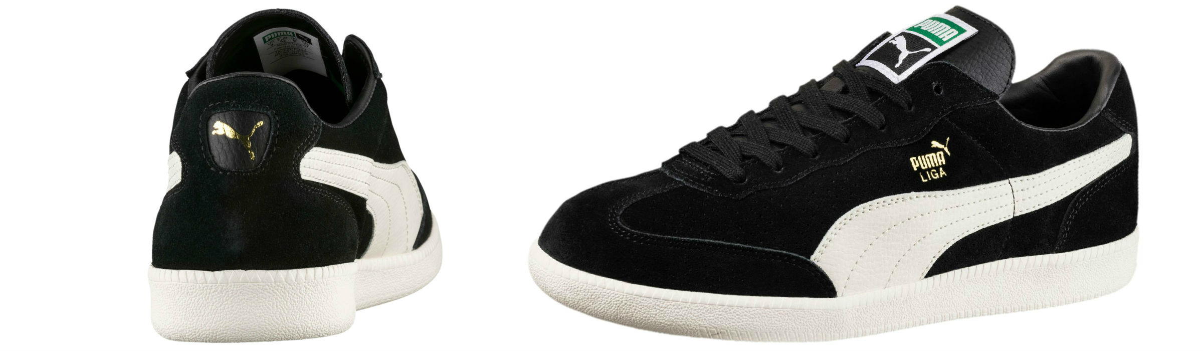 Puma Liga Suede Perf Trainers Puma Black Whisper White Puma Team Gold Full