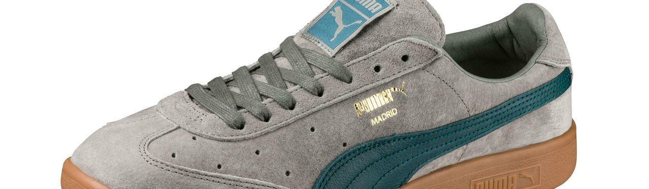 Puma Madrid 2l Trainers Agave Green Deep Teal Gold Full