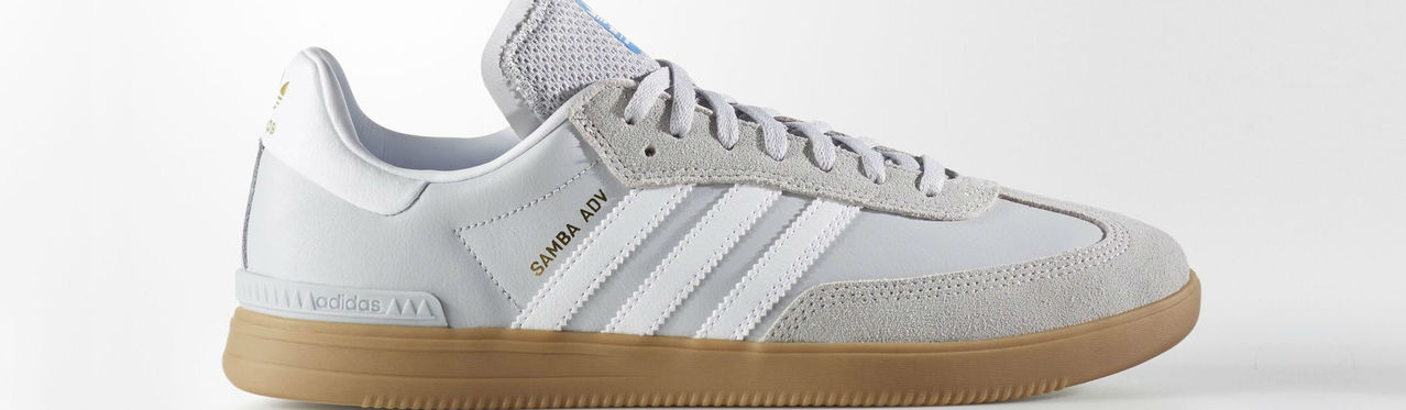 Samba Adv Shoes Lgh Solid Grey Footwear White Bluebird Full