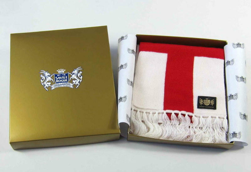 Savile Rogue England Cross Of St George King Cashmere Football Scarf