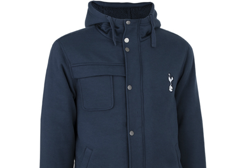 Spurs Heavy Padded Hood Top Blue