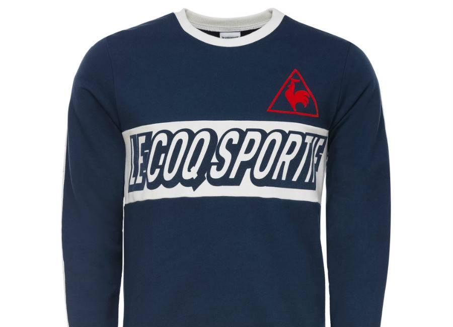 Le Coq Sportif Tricolore Football Crew Sweat - Dress Blues