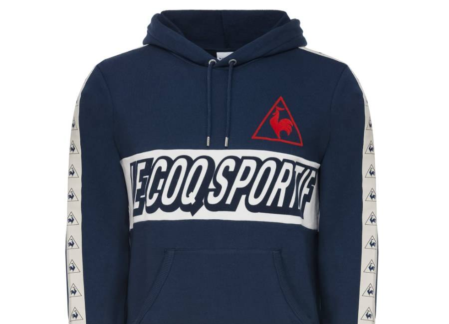 Le Coq Sportif Tricolore Football Pull-Over Hood - Dress Blues
