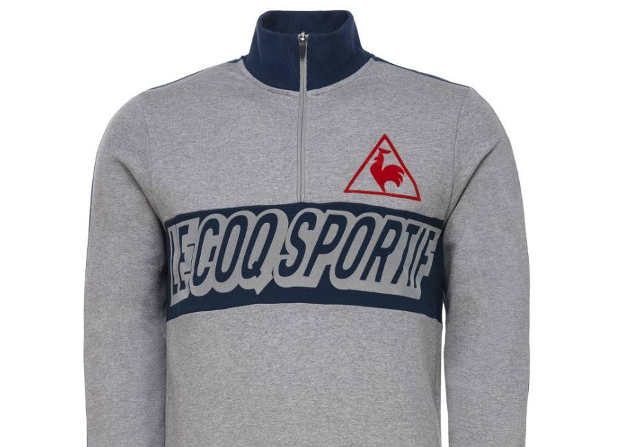 Le Coq Sportif Tricolore Football Sweat - Heather Grey