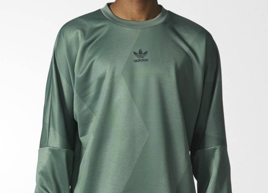 Adidas Retro Goalie Sweatshirt - Trace Green
