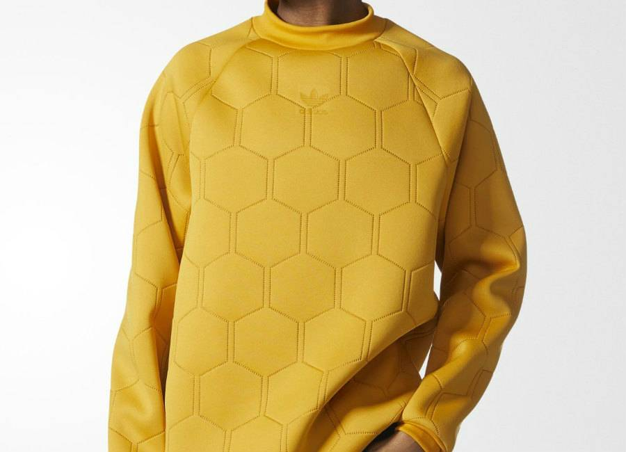 Adidas Sonic Soccer Sweatshirt - Tactile Yellow / Tactile Yellow