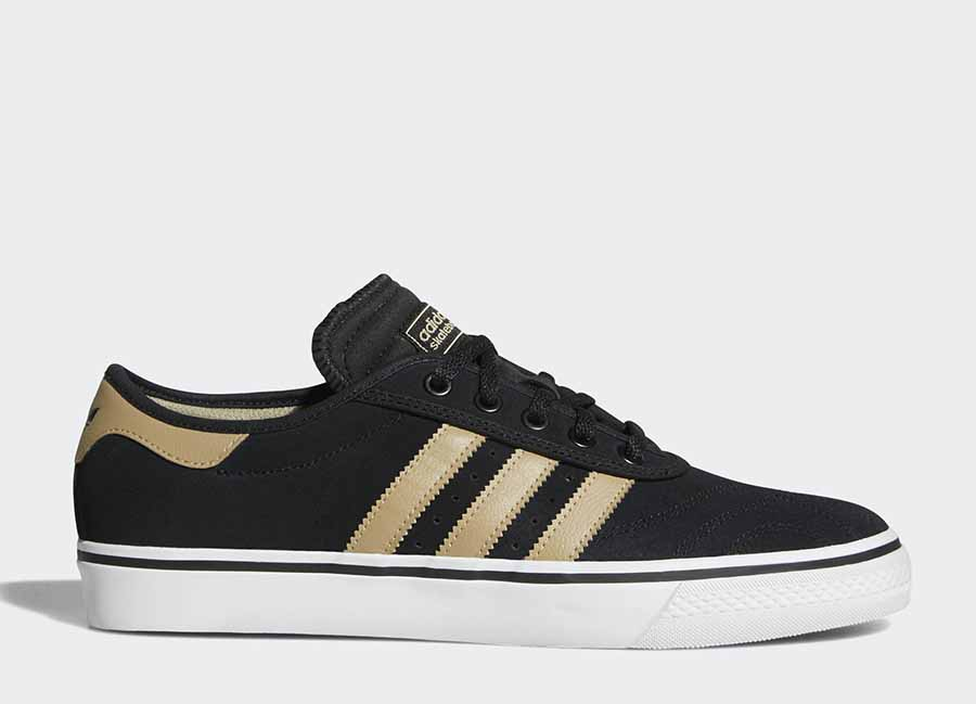 Adidas Adiease Premiere Shoes - Core Black / Raw Gold / Ftwr White