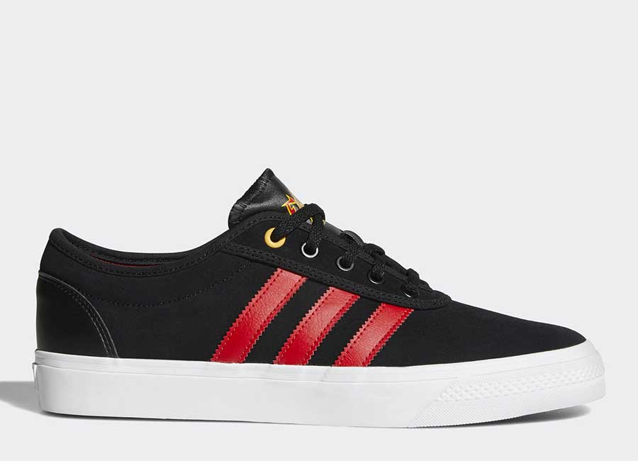 Adidas Adiease Shoes - Core Black / Scarlet / Ftwr White
