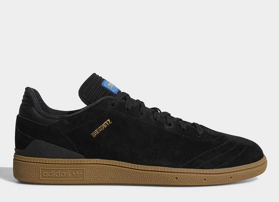 Adidas Busenitz RX Shoes - Core Black / Gum / Gold Metallic