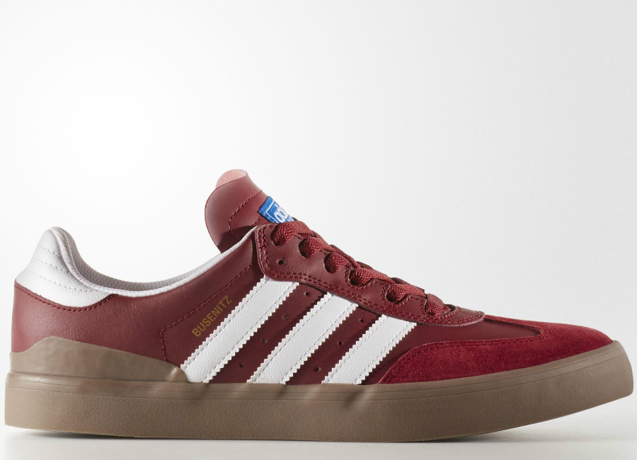 Adidas Busenitz Vulc RX Shoes - Collegiate Burgundy / Footwear White / Gum