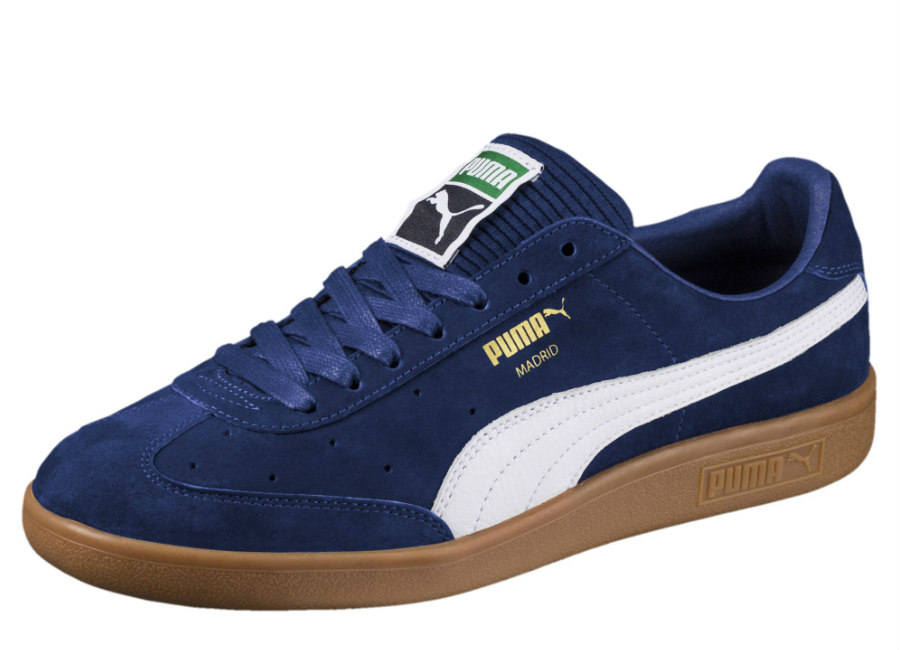 Puma Madrid Lux Trainers - Blue Depths / White / Gold