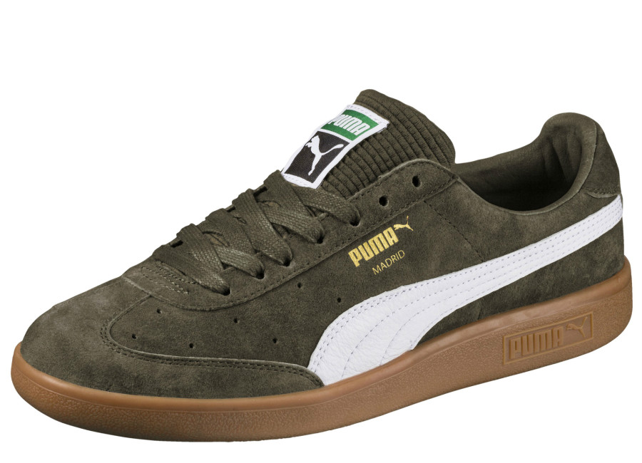 Puma Madrid Lux Trainers - Olive Night / White / Gold