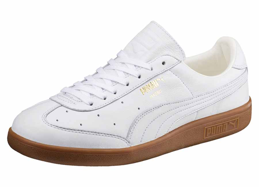 Puma Madrid Premium Trainers - Puma White / Puma Team Gold