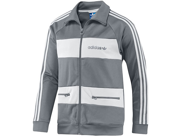 Beckenbauer Track Jacket - Tech grey / White