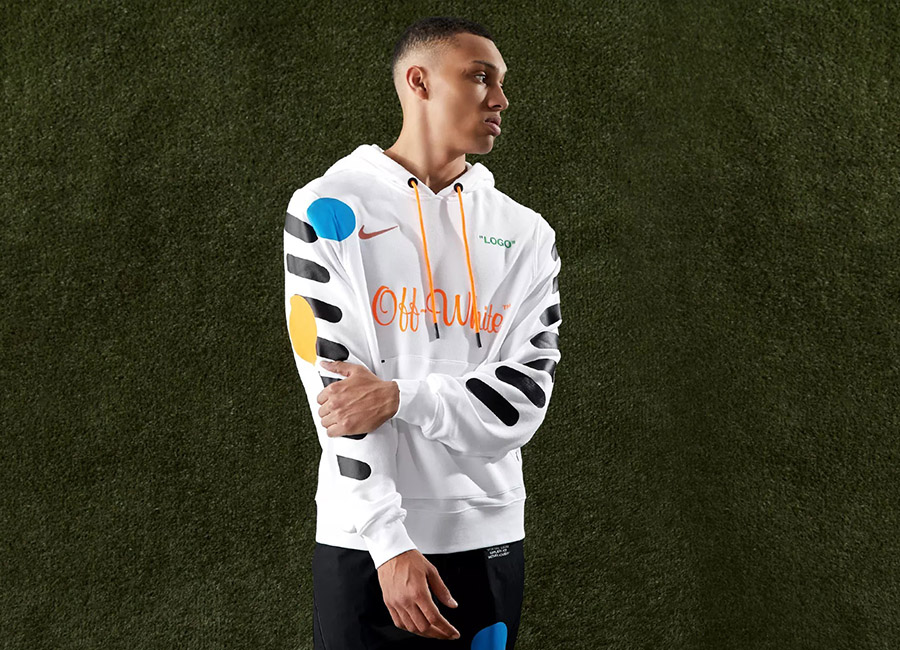 About Icon >> Nike X Off-White Pullover Hoody - White / Total Orange