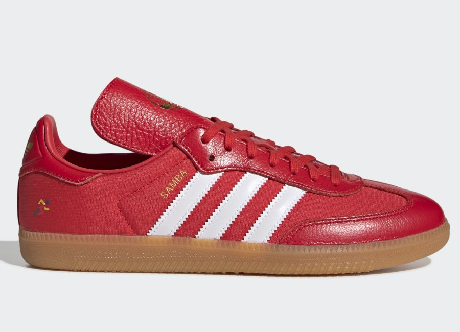 Adidas Oyster Holdings Samba OG Shoes - Red / White Down / Gold Met